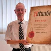 Frank Sänger wurde zum Ehrenpräsidenten ernannt