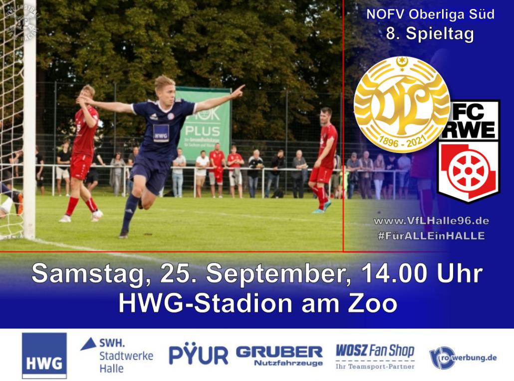 Spielankündigung VfL Halle 96 - FC Rot Weiß Erfurt